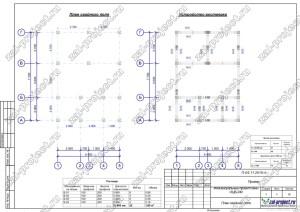 Пример проекта из бревна План фундамента