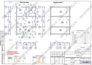Пример проекта из бревна План этажей