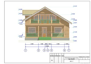 Пример проекта дома из бруса Вид 1-7