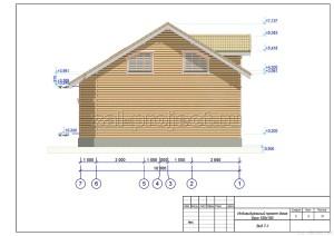 Пример проекта дома из бруса Вид 7-1
