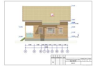 Пример проекта дома из бруса Вид А-К