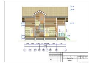 Пример проекта дома из бруса Разрез Р-2