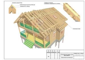 Пример проекта дома из бруса - Стропильная система - вид 4