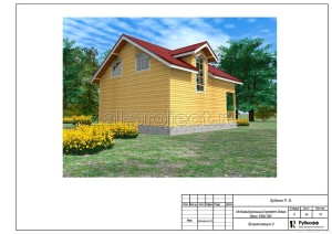 Пример проекта дома из бруса - общий вид 3