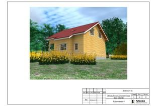 Пример проекта дома из бруса - общий вид 4