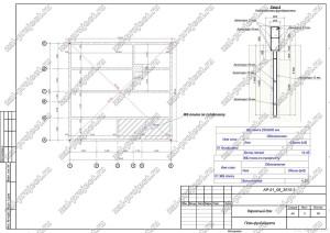 Пример проекта каркасного дома План фундамента