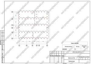 Пример проекта каркасного дома План свайного поля