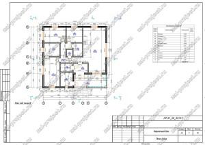 Пример проекта каркасного дома План дома