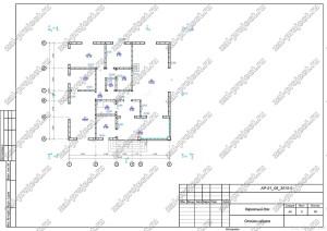 Пример проекта каркасного дома План каркаса