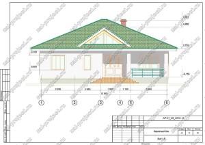 Пример проекта каркасного дома Вид 1-6