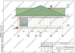 Пример проекта каркасного дома Вид А-Е