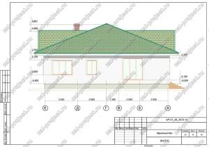 Пример проекта каркасного дома Вид Е-А