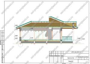 Пример проекта каркасного дома Разрез Р-1