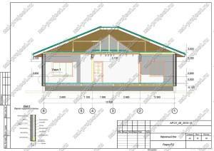 Пример проекта каркасного дома Разрез Р-2