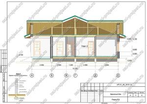 Пример проекта каркасного дома Разрез Р-3