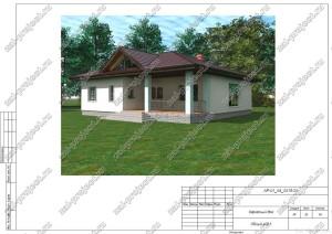 Пример проекта каркасного дома Общий вид 1
