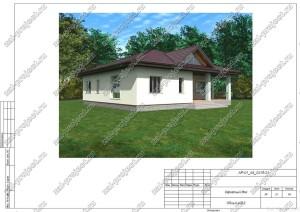 Пример проекта каркасного дома Общий вид 2