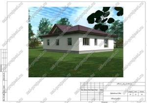 Пример проекта каркасного дома Общий вид 3