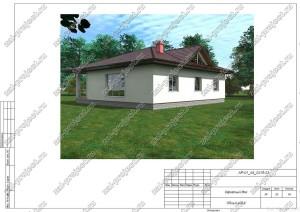 Пример проекта каркасного дома Общий вид 4