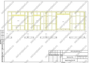 Пример проекта каркасного дома Каркас стены Ст.-003