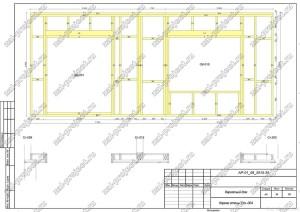 Пример проекта каркасного дома Каркас стены Ст.-004