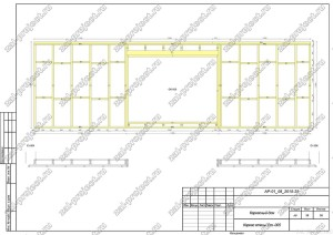 Пример проекта каркасного дома Каркас стены Ст.-005