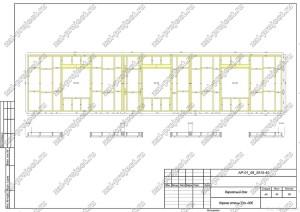 Пример проекта каркасного дома Каркас стены Ст.-006