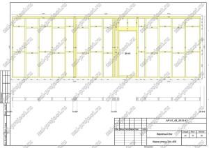 Пример проекта каркасного дома Каркас стены Ст.-008