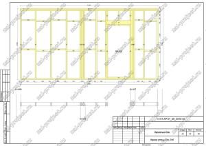 Пример проекта каркасного дома Каркас стены Ст.-010