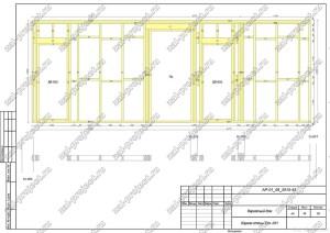 Пример проекта каркасного дома Каркас стены Ст.-011