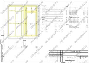 Пример проекта каркасного дома Каркас стены Ст.-015