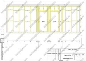 Пример проекта каркасного дома Каркас стены Ст.-016