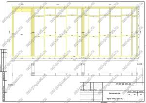 Пример проекта каркасного дома Каркас стены Ст.-017