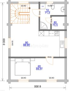 Гостевой дом план 1-го этажа зеркальный