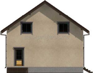 Каркасный дом Пк-003 Фасад 1