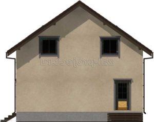 Каркасный дом Пк-003 Фасад 1 зеркальный