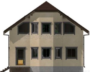 Каркасный дом Пк-003 Фасад 2