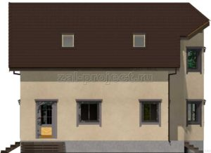Каркасный дом Пк-003 Фасад 3