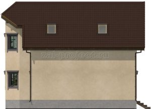 Каркасный дом Пк-003 Фасад 4