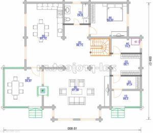 Пб-001 План 1-го этажа зеркальный