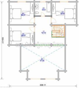 Пб-001 План 2-го этажа зеркальный