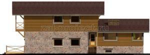 Каркасные дома Пк-004 фасад 1