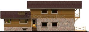 Каркасные дома Пк-004 фасад 1 зеркальный