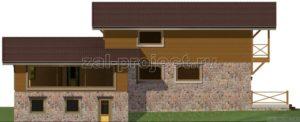 Каркасные дома Пк-004 фасад 2