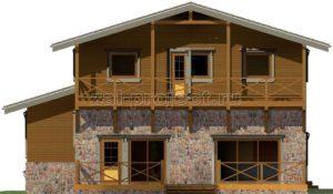 Каркасные дома Пк-004 фасад 3