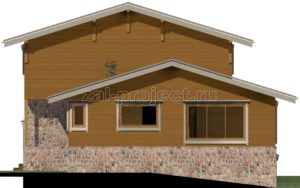 Каркасные дома Пк-004 фасад 4