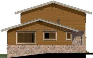 Каркасные дома Пк-004 фасал 4 зеркальный