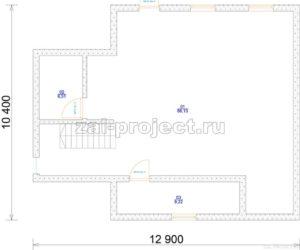 Каркасные дома Пк-004 План цокольного этажа