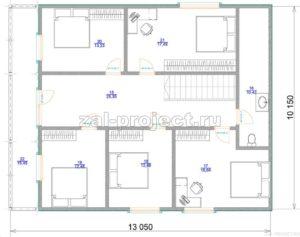Каркасные дома Пк-004 план 2-го этажа