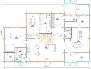 Пб-064 план 1-го этажа